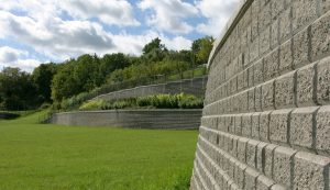 SonomaStone | Park with Terraced Retaining Wall