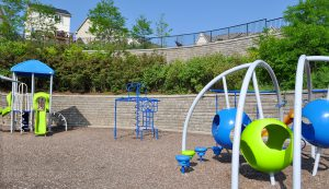 SonomaStone   Park with Terraced Retaining Wall