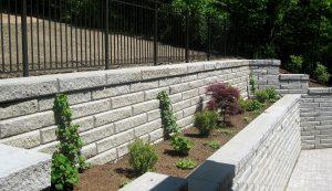SienaStone   Terrace Wall in Backyard