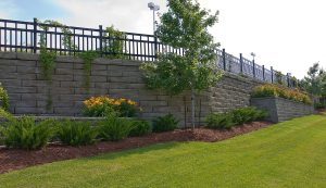 SienaStone | Retaining Wall with Planters