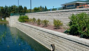 SienaStone | Retaining Wall by Pond